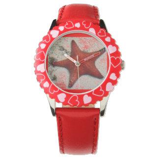 red star fish wrist watch