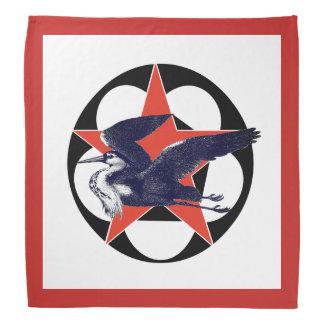 Red Star Grey Heron Bandana