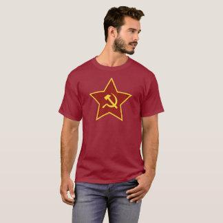 Red Star Hammer and Sickle Dark Men's T-Shirt