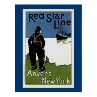 Red Star Line Postcard