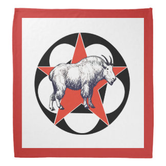 Red Star Mountain Goat Camping Bandana