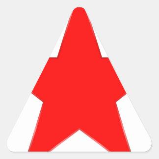 Red Star Triangle Sticker