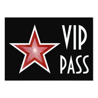 Red Star 'VIP PASS' invitation black horizontal