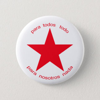 Red Star Zapatista 6 Cm Round Badge