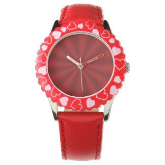 Red Starburst Watch