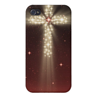 Red Starfield Christmas Star Cross Iphone 4 Case