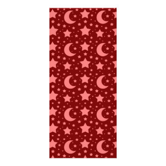 red stars and moon patterns 10 cm x 23 cm rack card