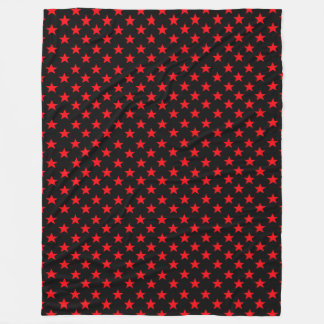 Red Stars Fleece Blanket