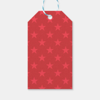 Red stars pattern gift tags