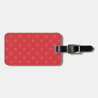 Red stars pattern luggage tag