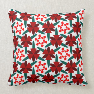 Red Stars Pattern on Throw Pillow