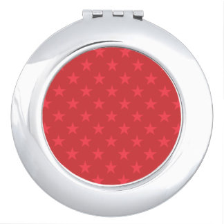 Red stars pattern travel mirrors