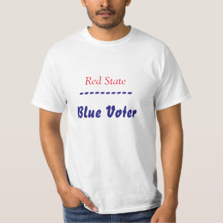 Red State Blue Voter T Shirt