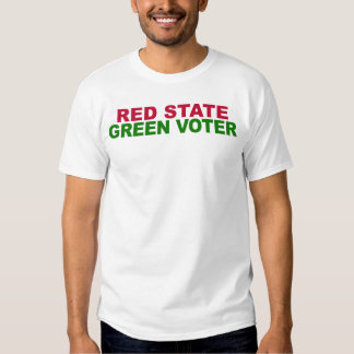 Red State, Green Voter (For Him) Tees