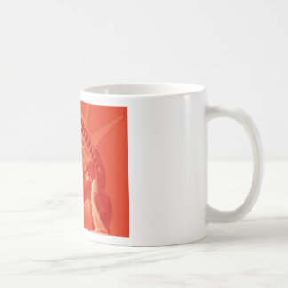 Red Statue of Liberty Coffee Mugs