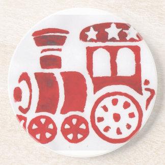 Red steam train coaster