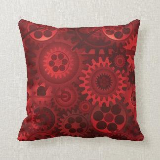 Red Steampunk Throw Pillow