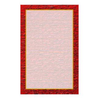 Red Steel Brick Fine Lined Stationery Custom Stationery
