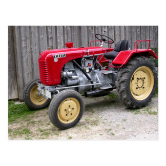 Red Steyr Tractor T84 Postcard