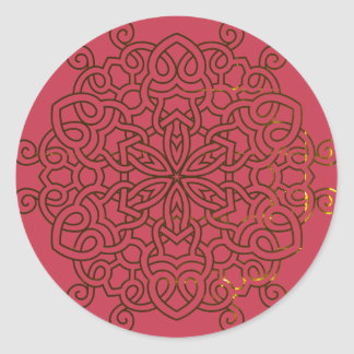 RED sticker with mandala