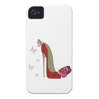 Red Stiletto and Butterfly's Art Case-Mate iPhone 4 Cases
