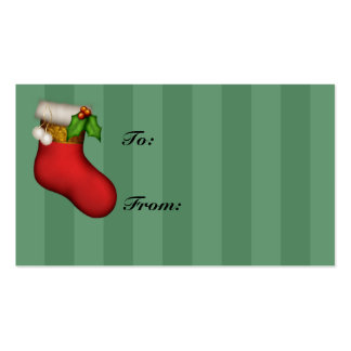 Red Stocking Holiday Gift Tags Pack Of Standard Business Cards