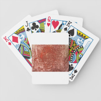 Red stone bicycle playing cards