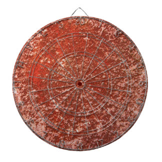 Red stone dartboard
