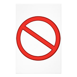 RED STOP SYMBOL WARNING GRAPHIC STATIONERY DESIGN