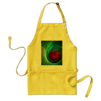 Red Storm Abstract Art Apron