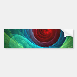 Red Storm Abstract Art Bumper Sticker