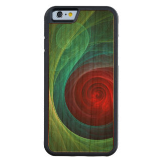 Red Storm Abstract Art Carved Cherry iPhone 6 Bumper Case