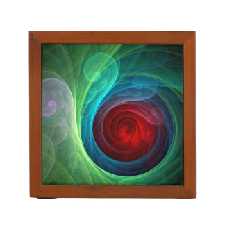 Red Storm Abstract Art Desk Organiser