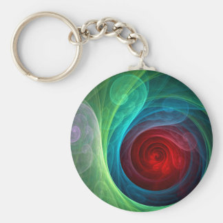 Red Storm Abstract Art Keychain