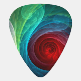 Red Storm Abstract Art Standard Guitar Guitar Pick