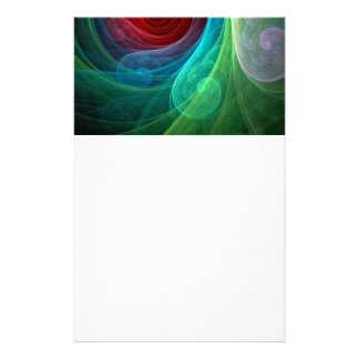 Red Storm Abstract Art Stationery
