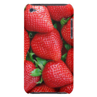 Red Strawberries Pattern Design iPod Case-Mate Case