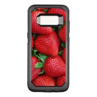 Red Strawberries Pattern Design OtterBox Commuter Samsung Galaxy S8 Case