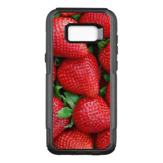 Red Strawberries Pattern Design OtterBox Commuter Samsung Galaxy S8+ Case
