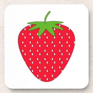 Red Strawberry Drink Coasters
