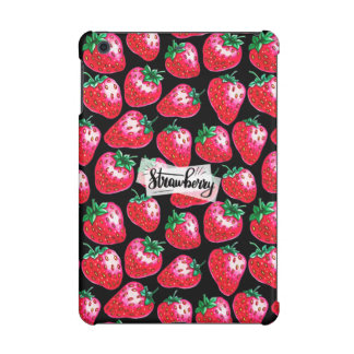 Red Strawberry on black background iPad Mini Case