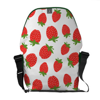 Red Strawberry Pattern Commuter Bag
