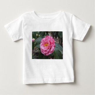 Red streaked white flower of Camellia japonica Baby T-Shirt
