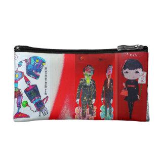 RED Street Art Cosmetics Bag