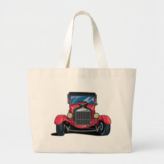 Red Street Rod Tote Bags
