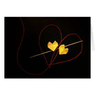 Red String of Fate Greeting Card