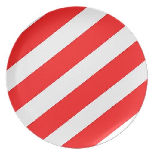 Red Strip Decorative Plate