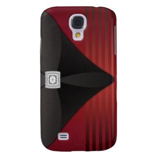Red Stripe Black Velvet Diamond i Samsung Galaxy S4 Case