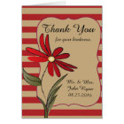Red Striped Flower Card