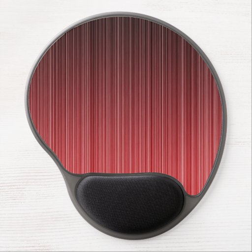 Red Striped Gel Mouse Pad